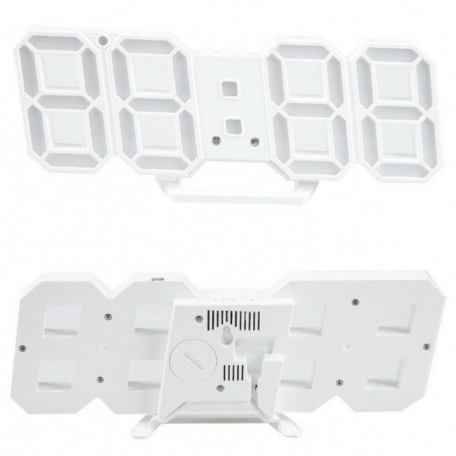 Modern White LED Wall Clock