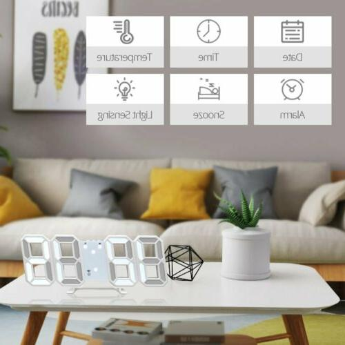 Modern Digital Wall Alarm Clock Snooze Hour Display
