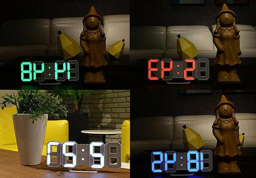 Modern Digital 3D Clock Hour Display
