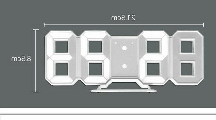 Modern Digital LED Wall Clock Display USB