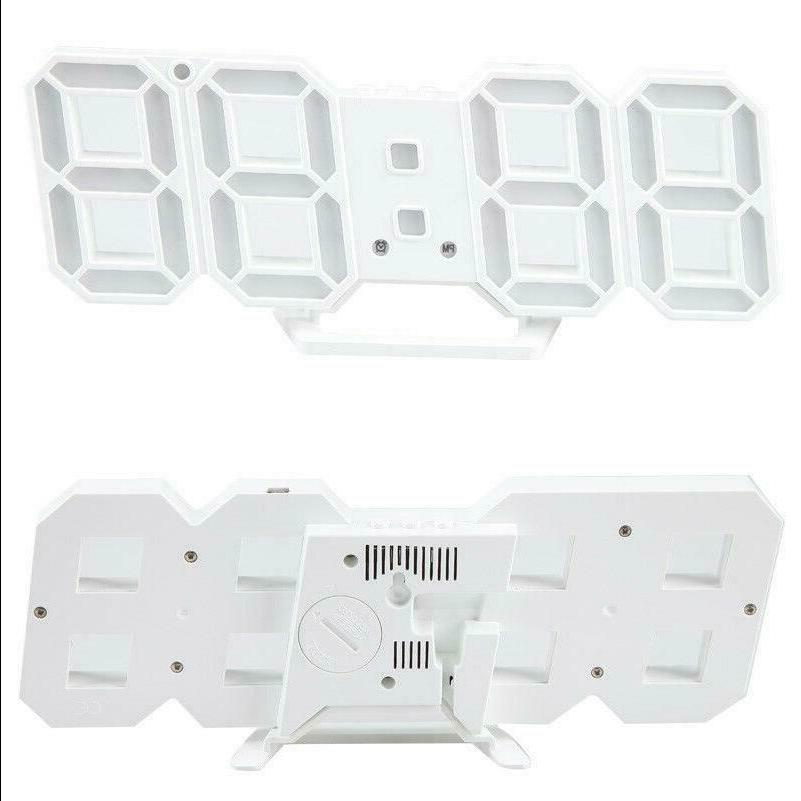 Modern Digital 3D LED Clock Alarm Clock Snooze 12/24 Display