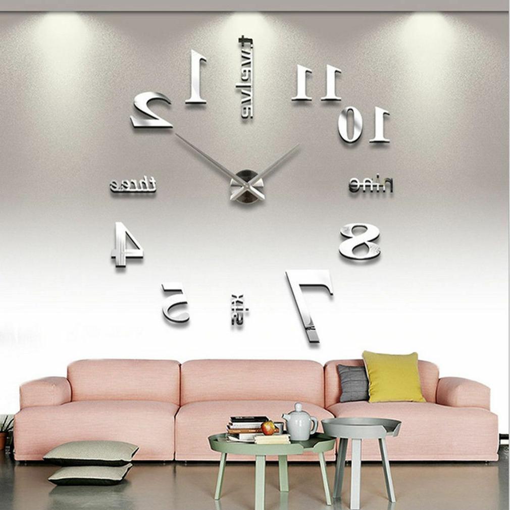 Modern DIY Large Clock Sticker