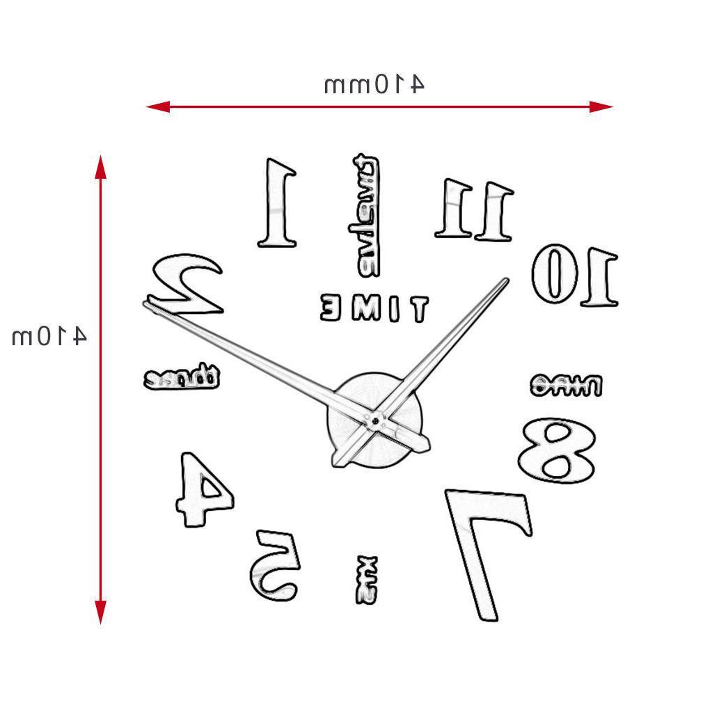 Modern Clock 3D Sticker Decor Design New