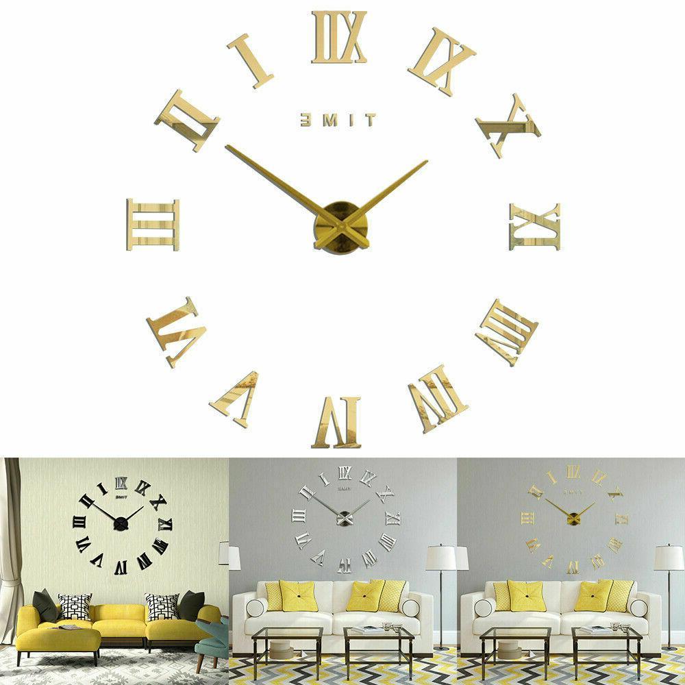 Modern DIY Large Clock Surface Sticker Home Room Decor