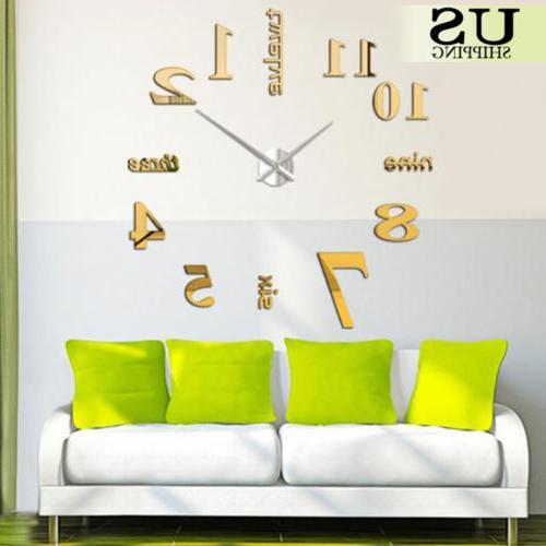 Modern DIY Clock Kit Surface Office Room