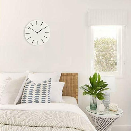 MOTINI Modern Wall Clock,11inch Round Battery Operated