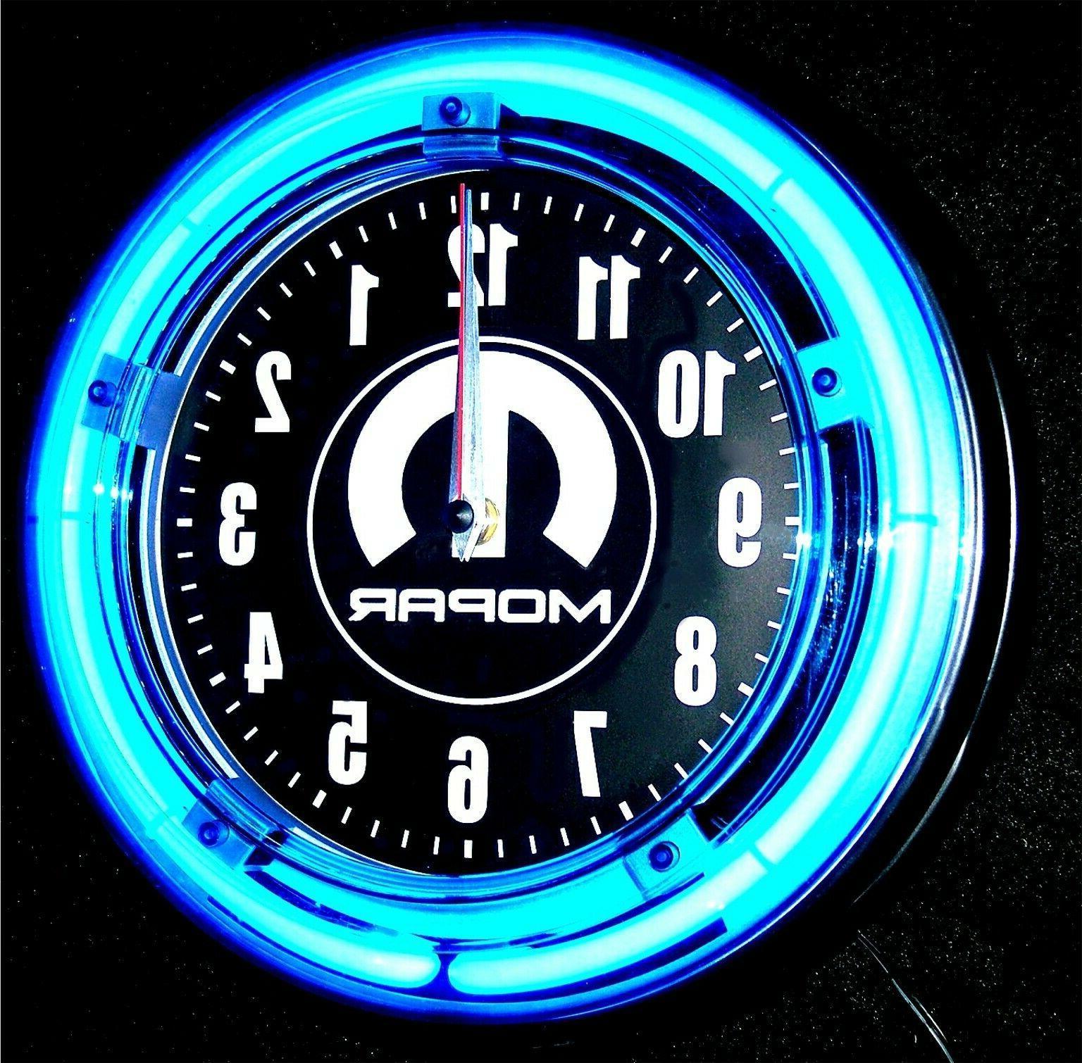 DODGE LOGO Blue Wall Clocks