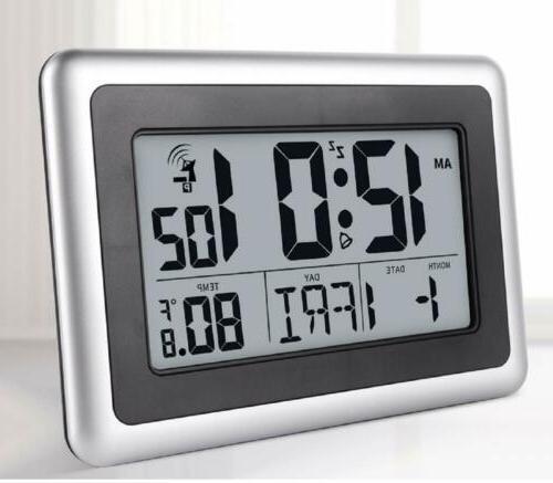 Digital Atomic Desk & Wall Clock With Date Indoor Temperatur