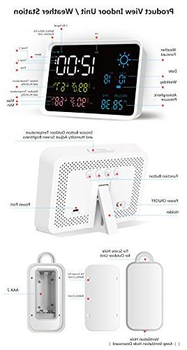 IGERESS Weather with Indoor Wireless Sensor Hygrometer Weather
