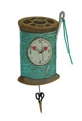 needle and thread pendulum wall clock