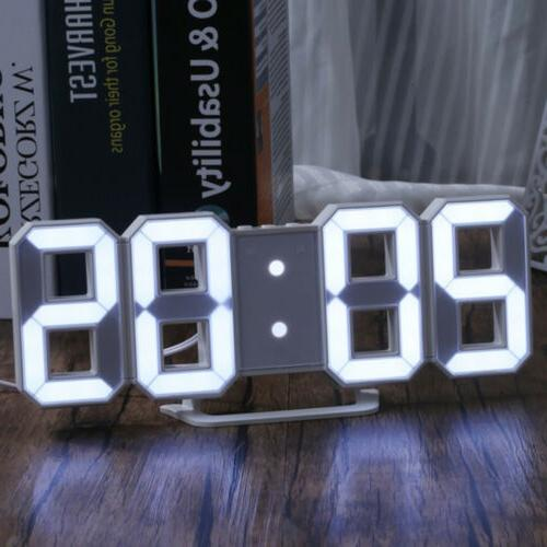 New Digital Wall Clock Snooze Watch USB Modern