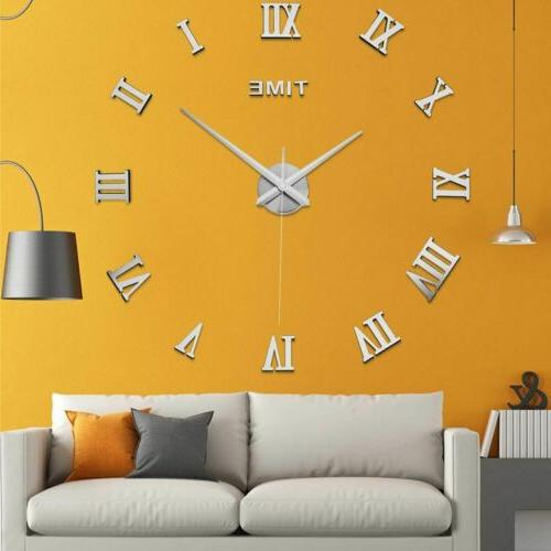 New 3D Large Wall Clock Home