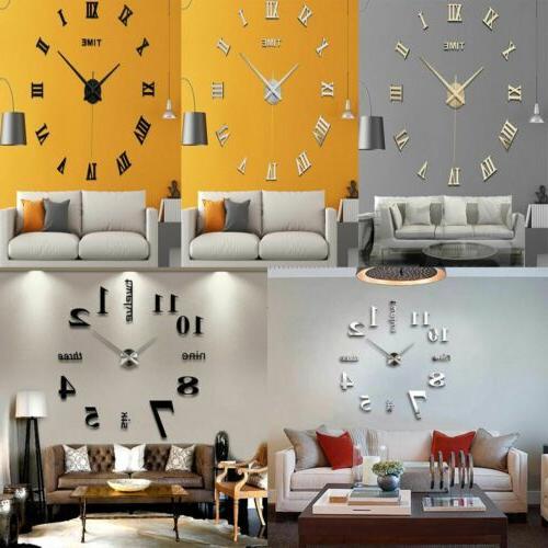 New Modern Large Clock Surface Sticker Art Home