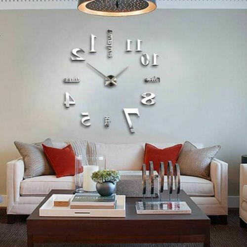 New DIY Large Wall Clock Surface Sticker Home Decor