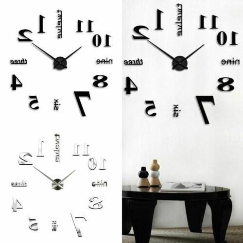 New DIY Large Clock Surface Sticker Home Decor