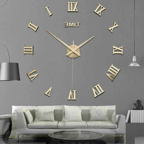 new modern diy 3d large wall clock
