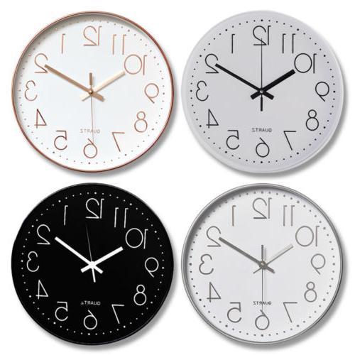 Non Wall Clock 12 Round Quartz Operated Decor