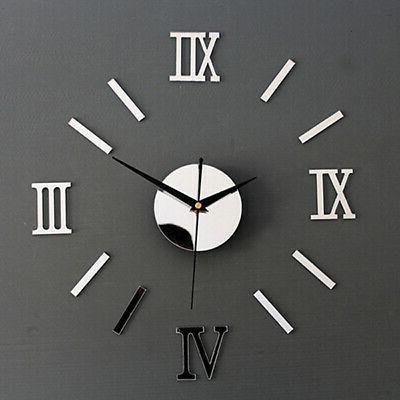 modern home diy 3d wall clock acrylic