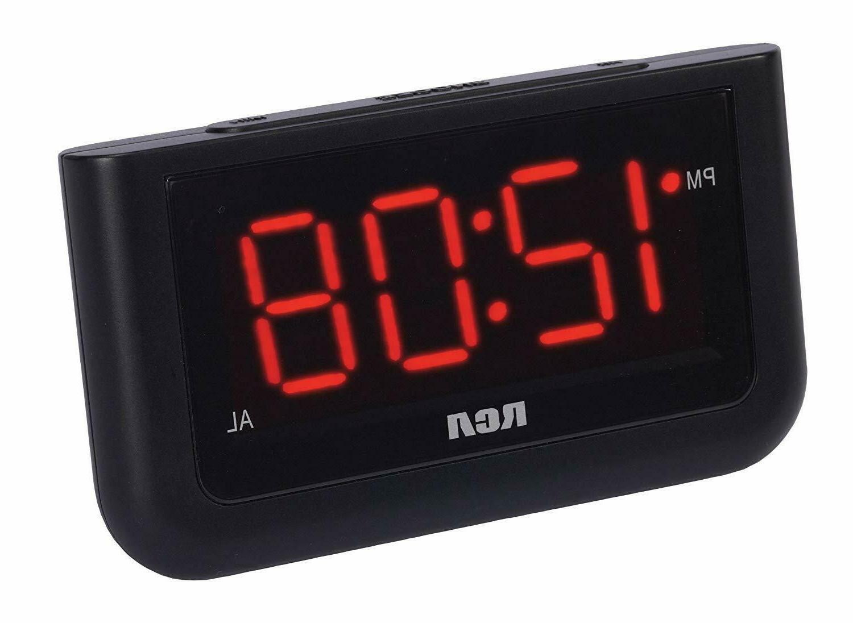 RCA Digital Alarm Clock with Large 1.4'' Display