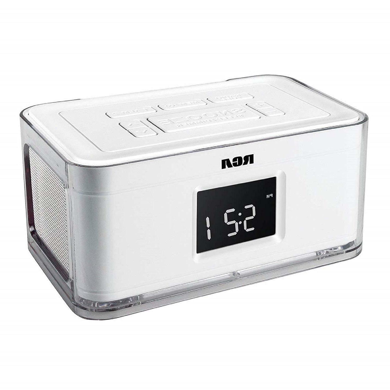 RCA RCR8622 Dual Alarm Clock AM w4 Multi color /phone USB Charger