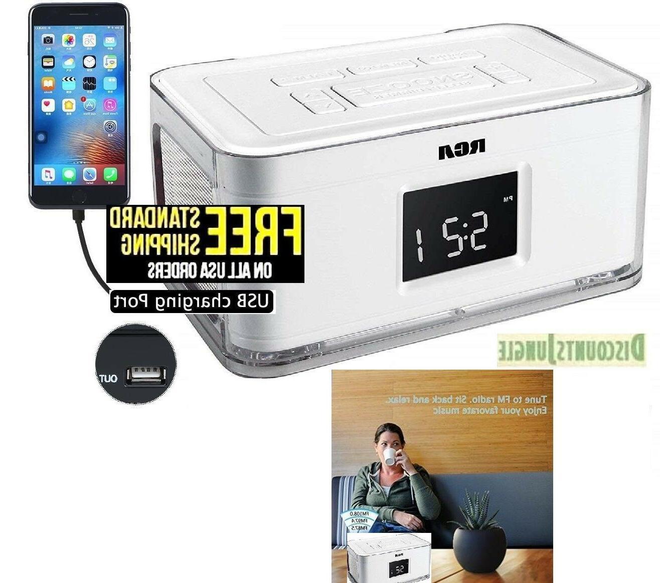 rcr8622 dual alarm clock am fm radio
