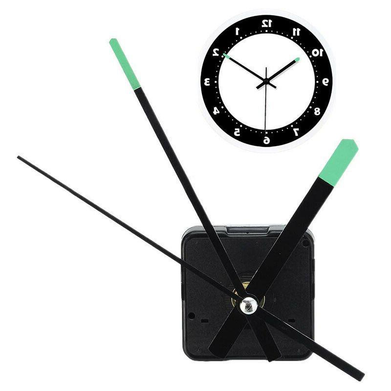 DIY Quartz Clock Movement Mechanism Motor Kit W/ Luminous Ha