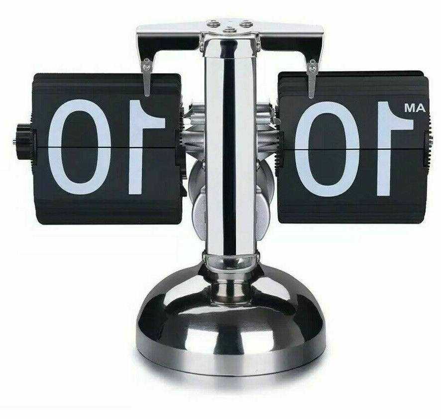 retro digital flip down clock internal gear