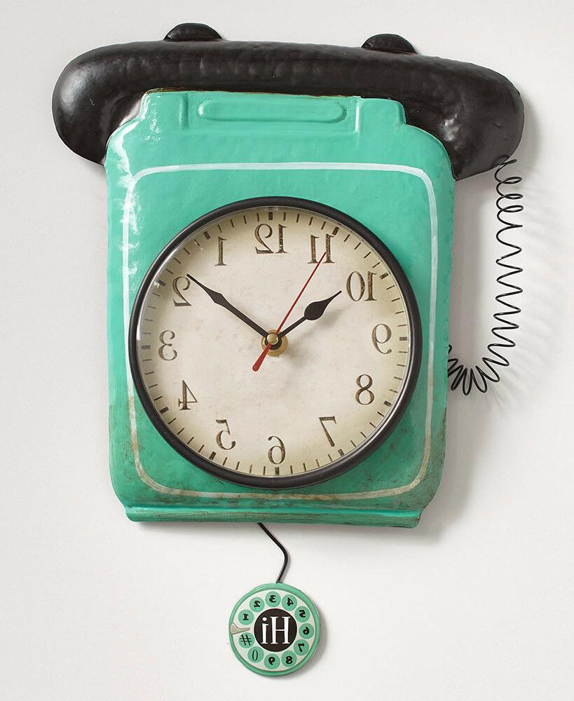 Retro Wall Clocks Telephone