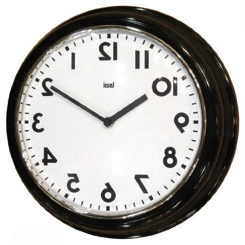 retro modern round wall clock