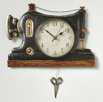 retro sewing machine pendulum wall clocks