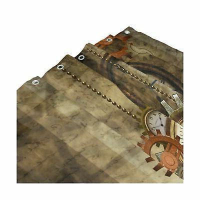 ALAZA Retro and Gears Curtain Custom