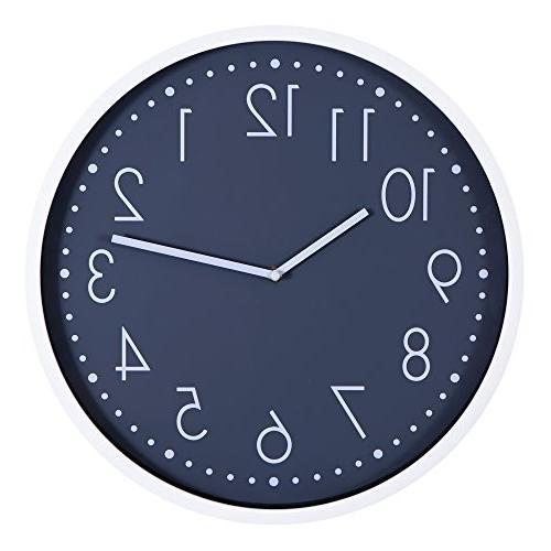 round essential white grey clock