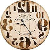 Round Off White Decorative Wall Clock With Big Numbers And D