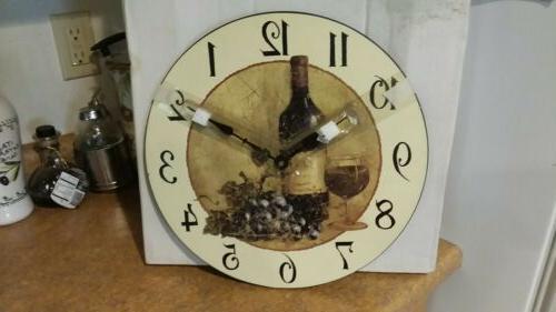 round wooden wall clock retro wine