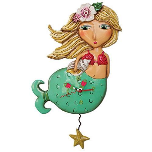 shelley mermaid pendulum clock