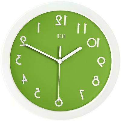 silent kids wall clock non ticking 10