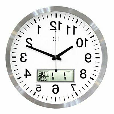 silent wall clock non ticking 14 inch