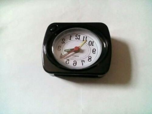 Small Mini Clock Portable Desk Travel Snooze AA