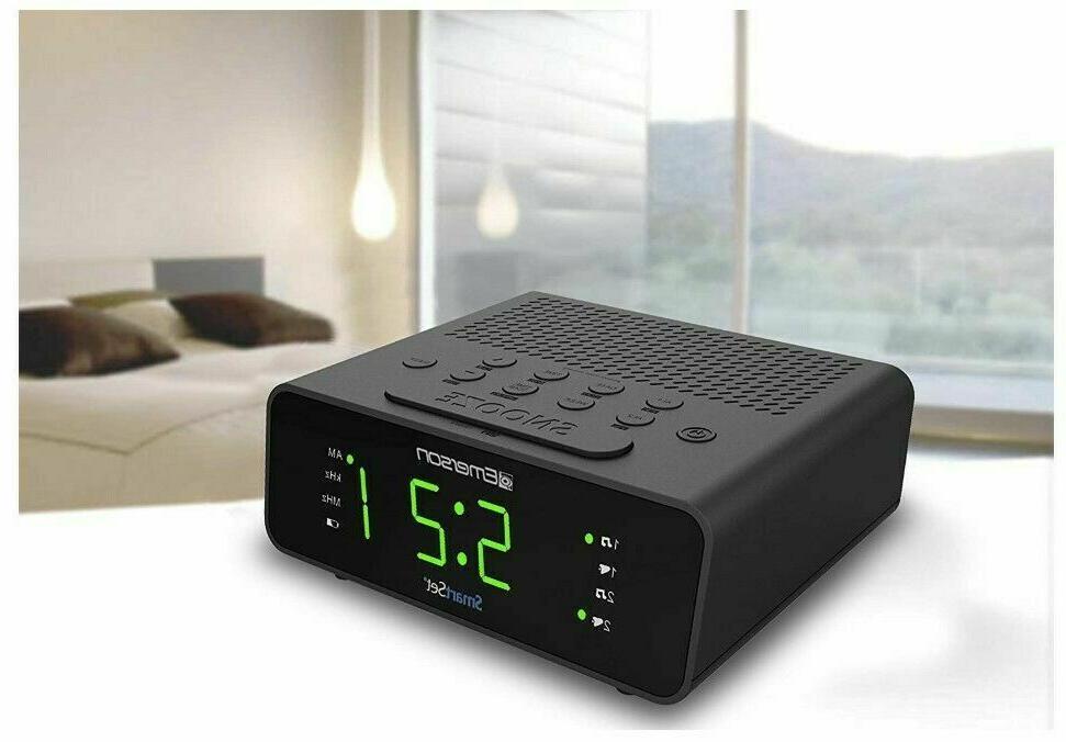 Emerson Smart Set Alarm Clock Radio New