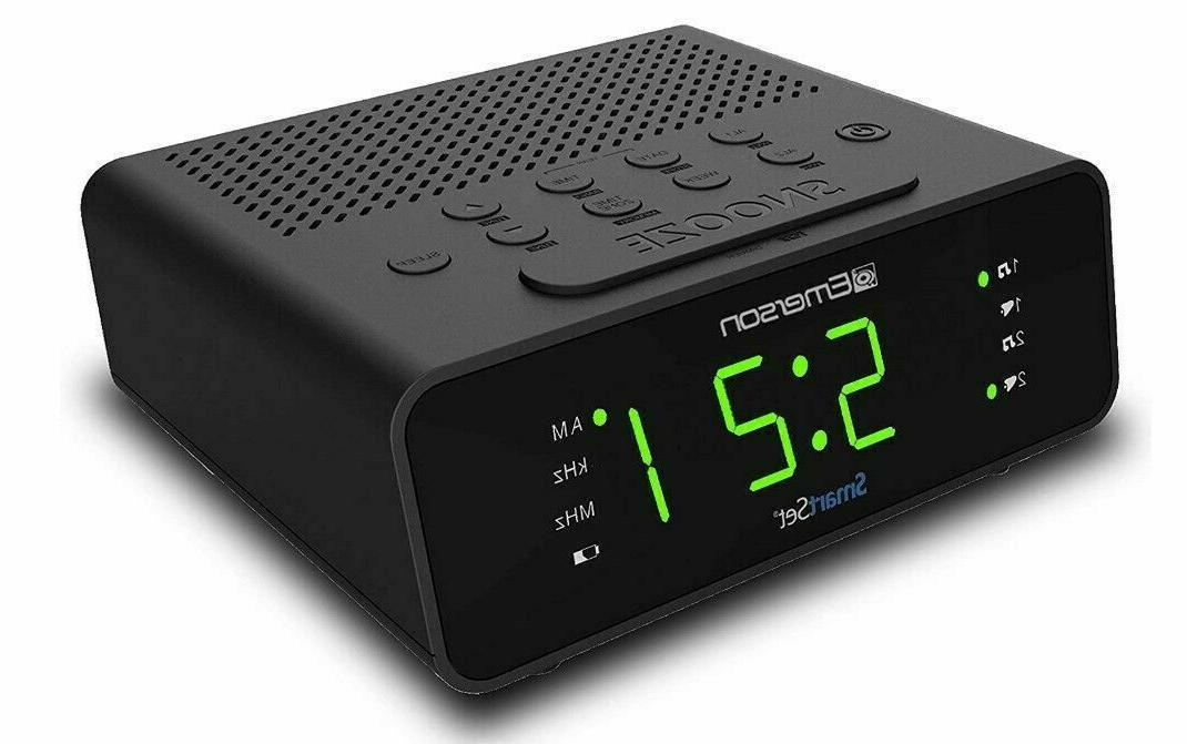 Emerson Smart Set Alarm Clock Radio with Radio New