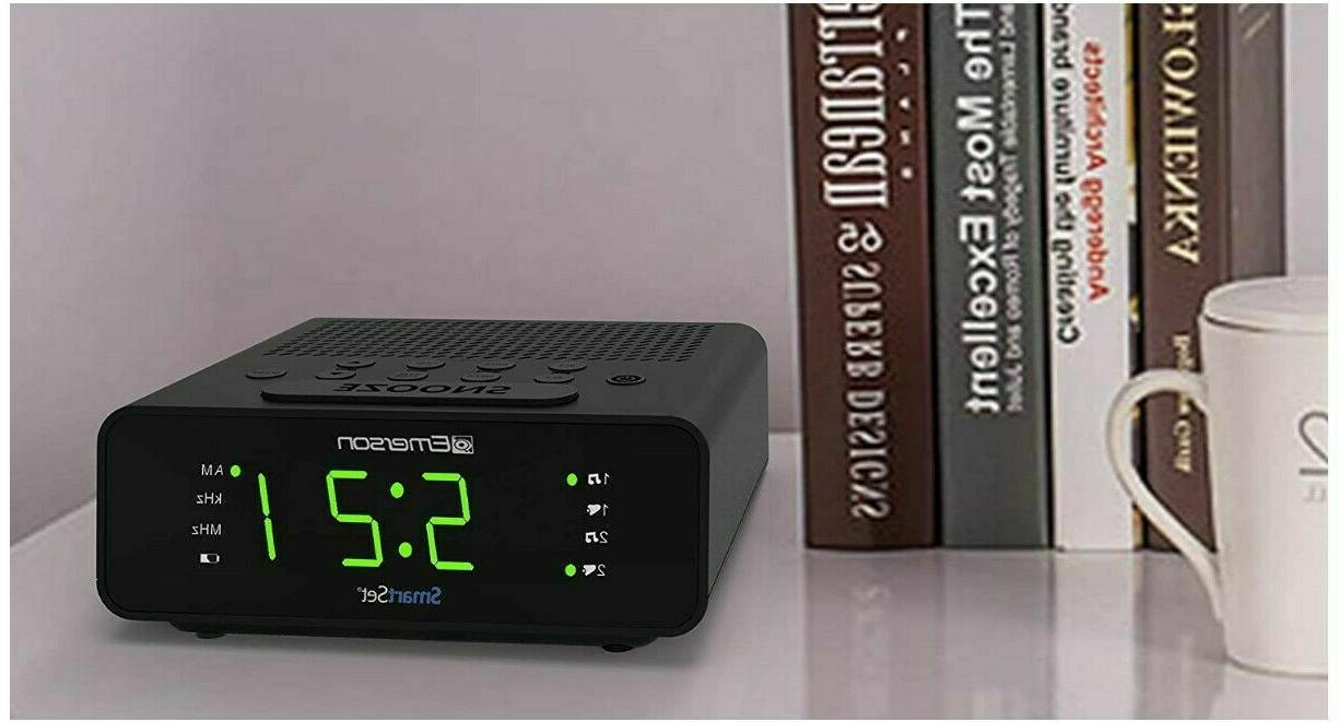 Emerson Smart Alarm Clock Radio Radio Sleep New