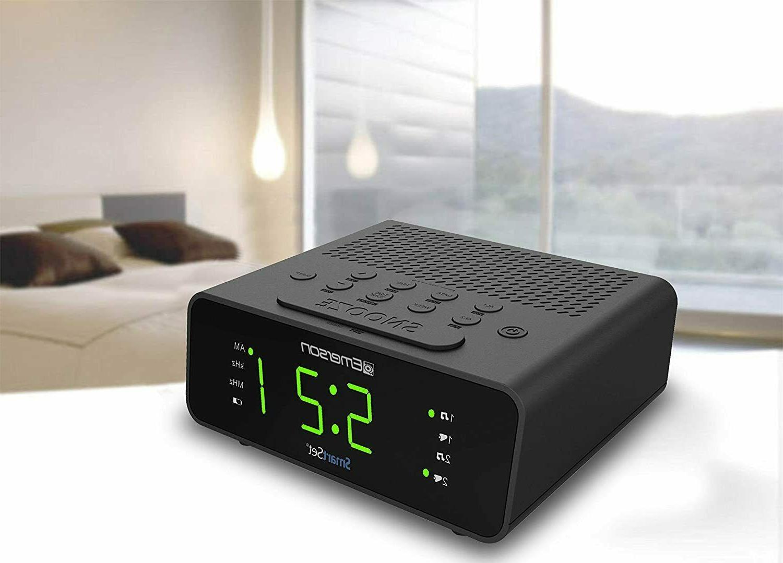 Emerson Alarm Clock Radio Large Display,Snooze