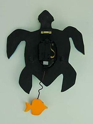 "Allen Designs ""Sup Dude? Whimsical Turtle Pendulum Wall Clock"
