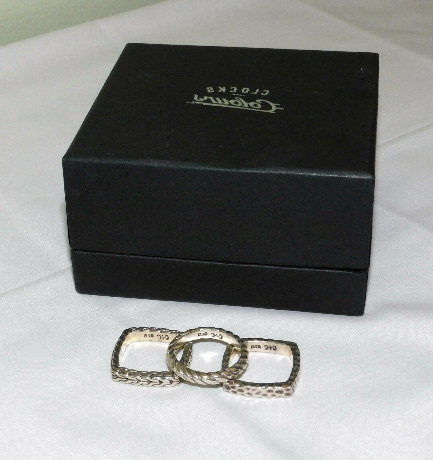 tierce sterling silver 3 ring stackable set