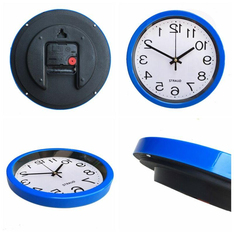 Kitchen Home Decor  Bedroom Sweep Second Movement Wall Clock