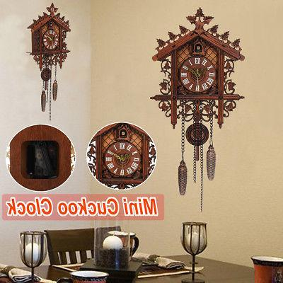 US Cuckoo Clock Forest House Wall Handcraft Decor