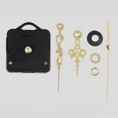 USA Black Clock Quartz Movement Hands Kit Wall Tool