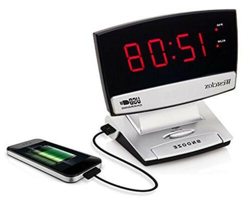 usb charging alarm clock