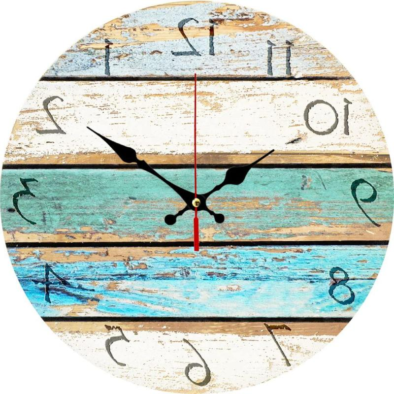 vintage arabic numerals shabby beach weathered beachy