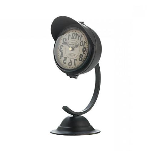 vintage black visor desk clock